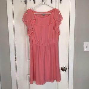 H&M pink flutter dress
